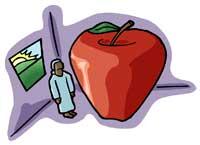 image de rever de pomme, un rêve de fruit.